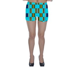 Triangles in rectangles pattern Skinny Shorts