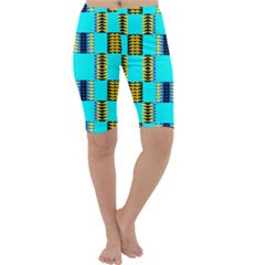 Triangles in rectangles pattern Cropped Leggings