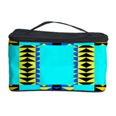 Triangles in rectangles pattern Cosmetic Storage Case