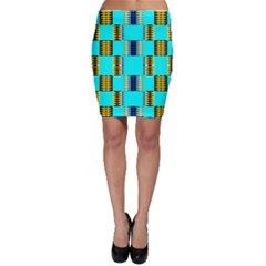 Triangles In Rectangles Pattern Bodycon Skirt