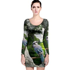 Bird In The Tree Long Sleeve Bodycon Dresses