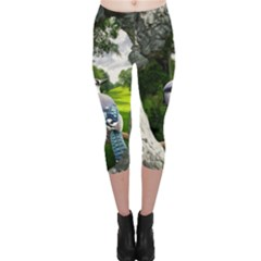 Bird In The Tree Capri Leggings