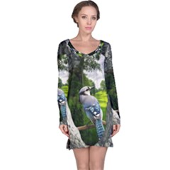 Bird In The Tree Long Sleeve Nightdresses