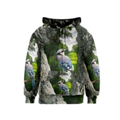 Bird In The Tree Kids Zipper Hoodies