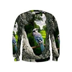 Bird In The Tree Boys  Sweatshirts