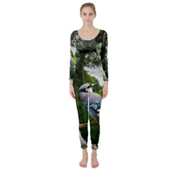 Bird In The Tree Long Sleeve Catsuit