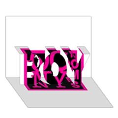 OCNYMOMS LOGO BOY 3D Greeting Card (7x5)