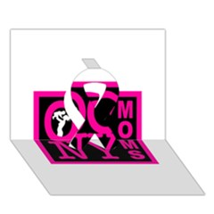Ocnymoms Logo Ribbon 3d Greeting Card (7x5)