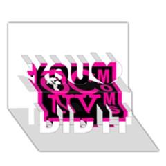 Ocnymoms Logo You Did It 3d Greeting Card (7x5)