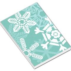 Snowflakes 3  Large Memo Pads