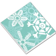 Snowflakes 3  Small Memo Pads