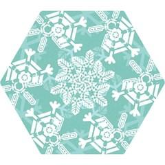 Snowflakes 3  Mini Folding Umbrellas