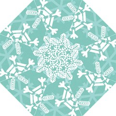 Snowflakes 3  Hook Handle Umbrellas (Large)