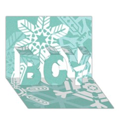 Snowflakes 3  Boy 3d Greeting Card (7x5)