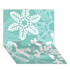 Snowflakes 3  Love Bottom 3d Greeting Card (7x5)
