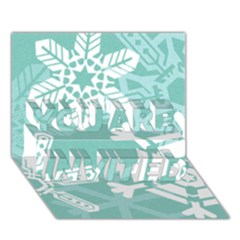 Snowflakes 3  YOU ARE INVITED 3D Greeting Card (7x5)