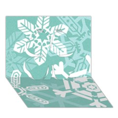 Snowflakes 3  Clover 3D Greeting Card (7x5)