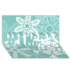 Snowflakes 3  #1 Mom 3d Greeting Cards (8x4)