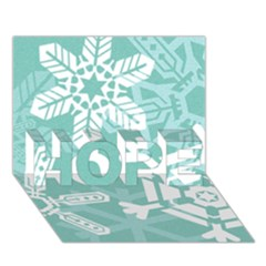 Snowflakes 3  HOPE 3D Greeting Card (7x5)