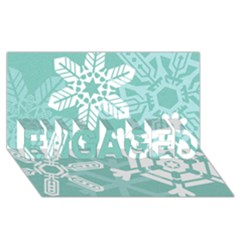 Snowflakes 3  ENGAGED 3D Greeting Card (8x4)
