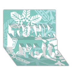 Snowflakes 3  THANK YOU 3D Greeting Card (7x5)