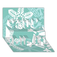 Snowflakes 3  You Did It 3d Greeting Card (7x5)
