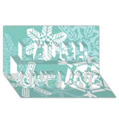 Snowflakes 3  Laugh Live Love 3d Greeting Card (8x4)