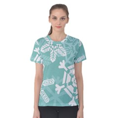 Snowflakes 3  Women s Cotton Tees