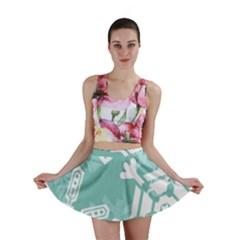 Snowflakes 3  Mini Skirts