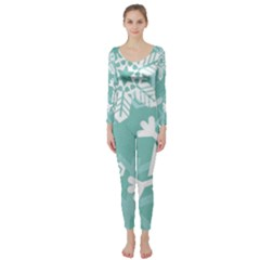 Snowflakes 3  Long Sleeve Catsuit