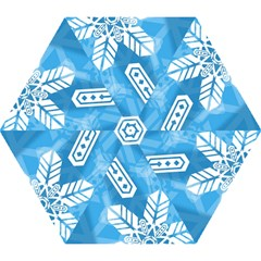 Snowflakes 1  Mini Folding Umbrellas