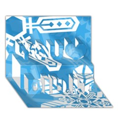 Snowflakes 1  You Did It 3D Greeting Card (7x5)