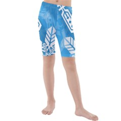 Snowflakes 1  Kid s swimwear