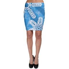 Snowflakes 1  Bodycon Skirts