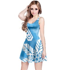 Snowflakes 1  Reversible Sleeveless Dresses