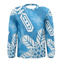 Snowflakes 1  Men s Long Sleeve T-shirts