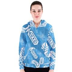 Snowflakes 1  Women s Zipper Hoodies