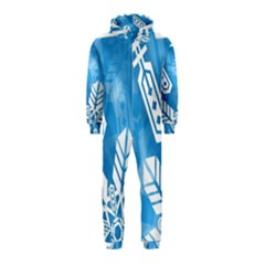 Snowflakes 1  Hooded Jumpsuit (Kids)