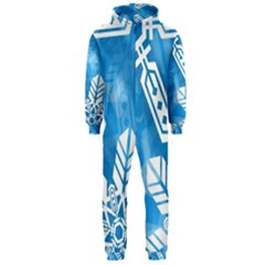 Snowflakes 1  Hooded Jumpsuit (men)