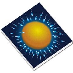 Sperm Fertilising Egg  Small Memo Pads