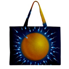Sperm Fertilising Egg  Zipper Tiny Tote Bags