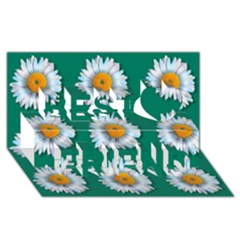 Daisy Pattern  Best Friends 3d Greeting Card (8x4)