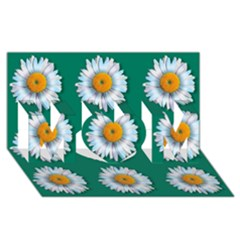 Daisy Pattern  Mom 3d Greeting Card (8x4)