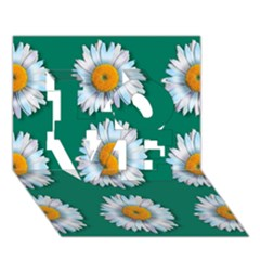 Daisy Pattern  LOVE 3D Greeting Card (7x5)