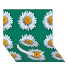 Daisy Pattern  Circle Bottom 3D Greeting Card (7x5)
