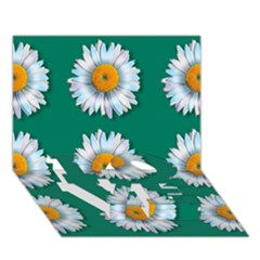 Daisy Pattern  LOVE Bottom 3D Greeting Card (7x5)