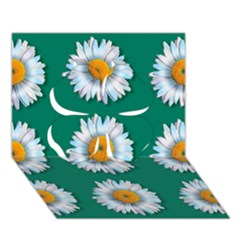 Daisy Pattern  Clover 3d Greeting Card (7x5)