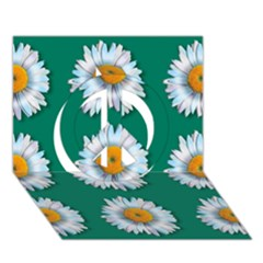 Daisy Pattern  Peace Sign 3D Greeting Card (7x5)