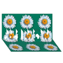 Daisy Pattern  #1 MOM 3D Greeting Cards (8x4)