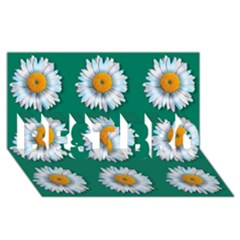 Daisy Pattern  BEST BRO 3D Greeting Card (8x4)